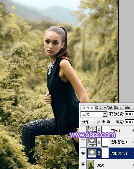 Photoshop调出紫蓝色效果的美女照片