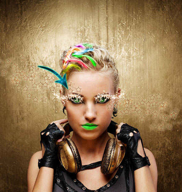 Photoshop合成潮流彩妆模特照片教程