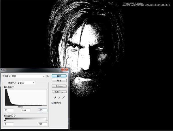 Photoshop制作阿凡达人像效果的游戏人像