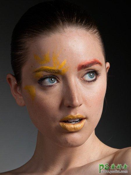 PS磨皮美容:给性感美女磨出精透皮肤彩妆效果