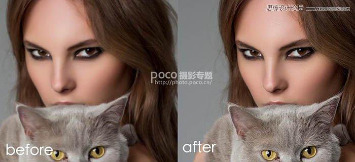 PS磨皮教程:给高清照片后期精修磨皮