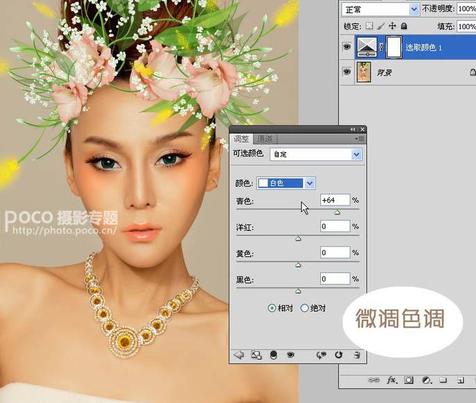 PS人物美化:打造精美的彩妆花饰美女图像