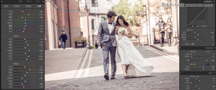 Lightroom调出暖色艺术效果的婚纱照片