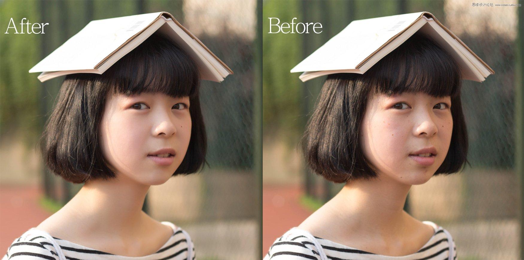 Photoshop调出夏日小清新效果的外景女孩