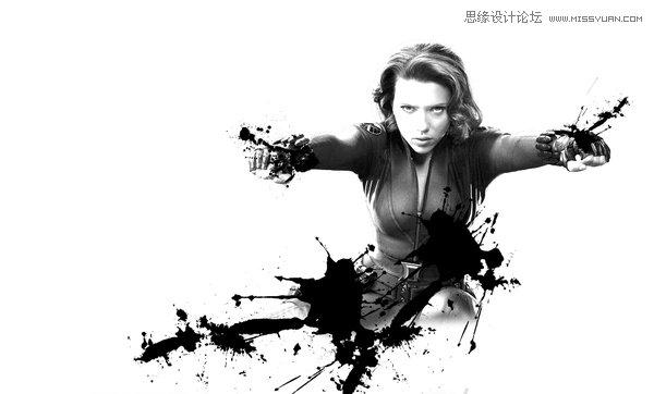 Photoshop制作锈迹喷溅效果的人像海报