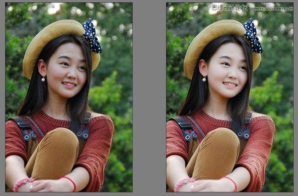 Photoshop简单制作小清新风格人像照片