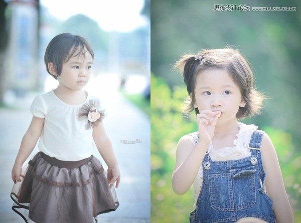Photoshop调出小清新肤色的甜美儿童照片