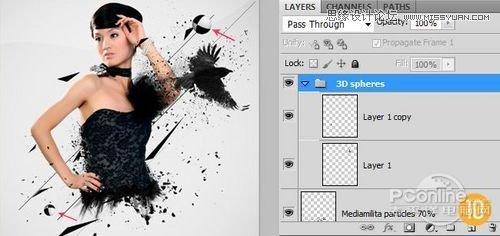 Photoshop制作炫目时尚的封面设计教程