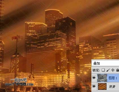 Photoshop滤镜调出色彩斑斓的城市夜景照片