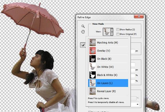 用Photoshop合成撑伞飞行的漂亮仙子图片