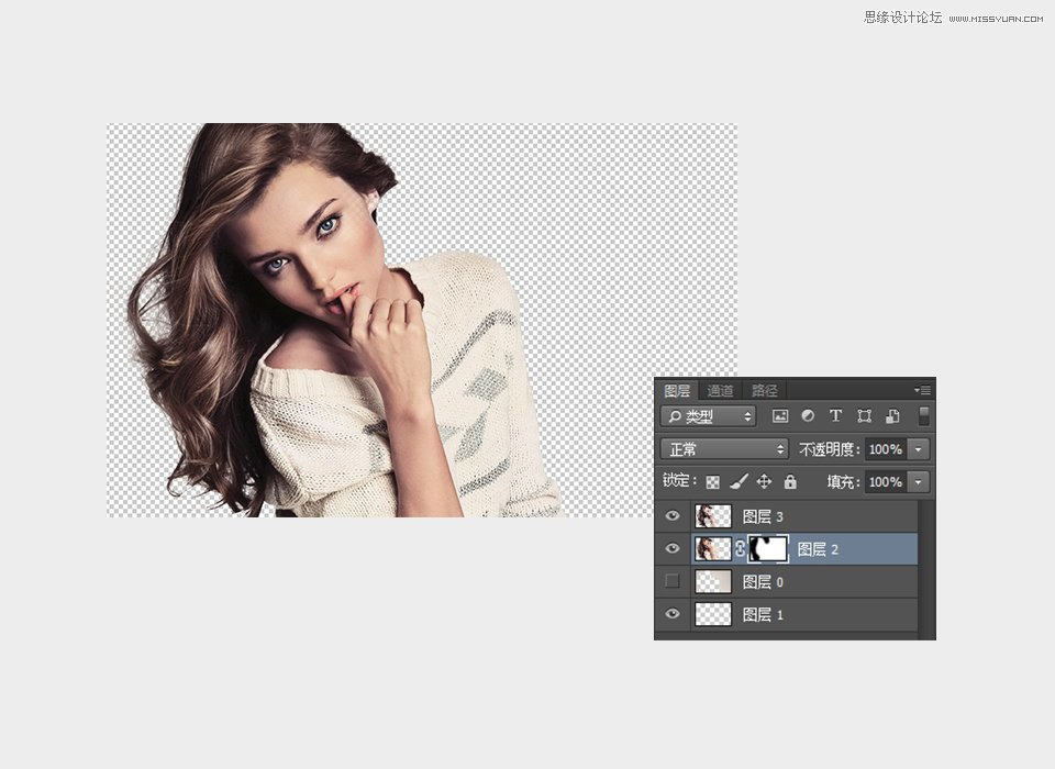 Photoshop制作创意风化人像照片效果教程