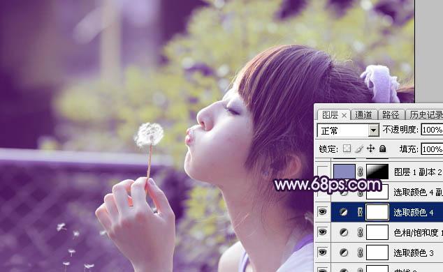 Photoshop调出甜美逆光效果的可爱女孩