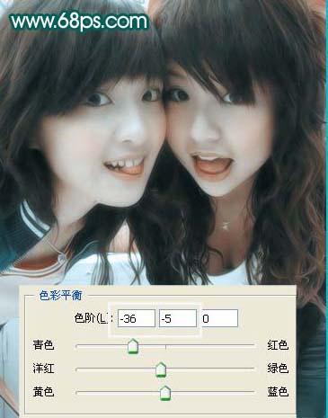 Photoshop滤镜给淡红色彩照片美化教程