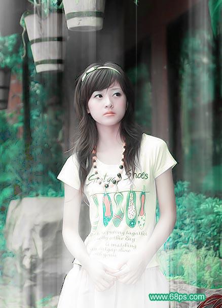 Photoshop调制出梦幻效果的美女照片