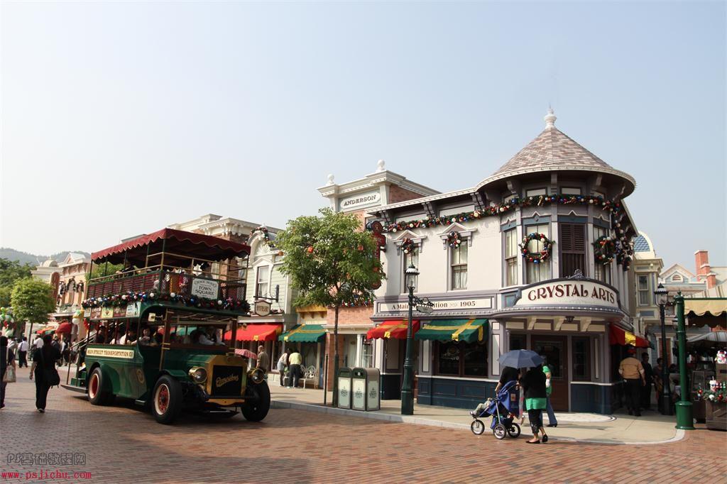 Photoshop调出温馨色调的小镇照片教程