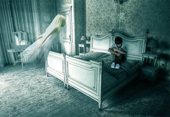 Photoshop合成恐怖幽灵鬼屋照片教程