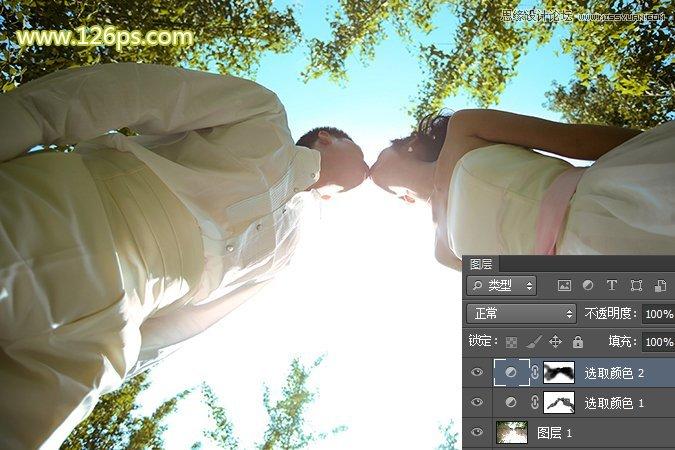 Photoshop制作唯美逆光效果的外景婚纱照