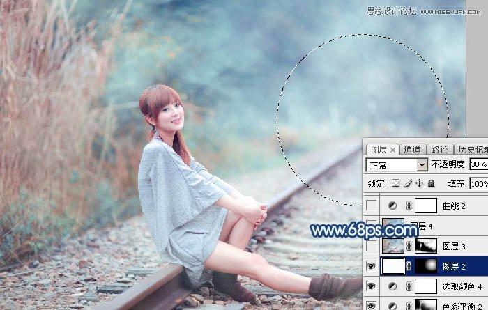 Photoshop制作梦幻暴风雪效果的外景果子照片
