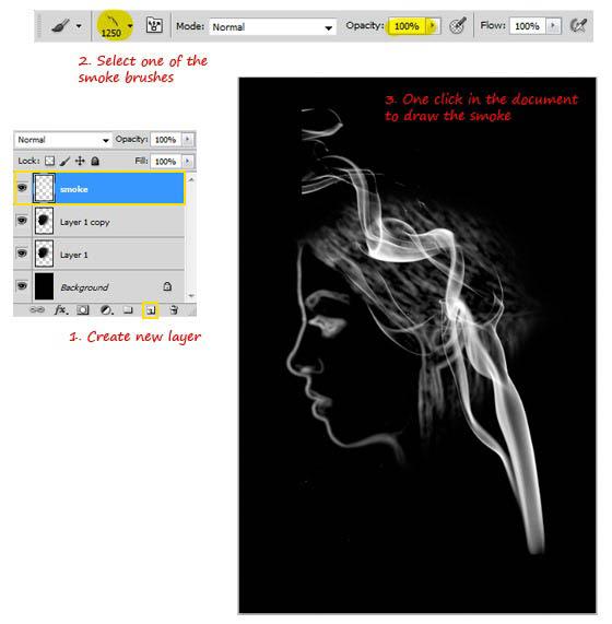 用Photoshop制作炫彩魔幻烟雾头像效果