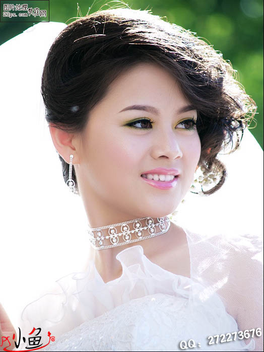 Photoshop给新娘脸部皮肤磨皮润色教程