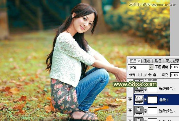 Photoshop调出暖黄逆光效果的外景果子照片