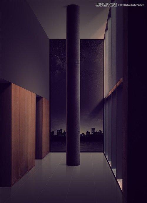 Photoshop制作逼真的城市夜景特效教程