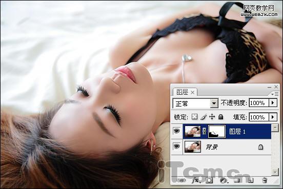 Photoshop调出闪亮水嫩光滑肤色的美女照片