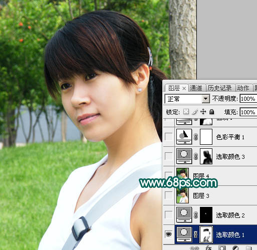 Photoshop磨皮美白打造甜美肤色的人物照片