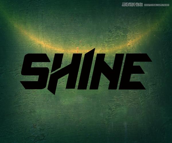 Photoshop制作绿色金属质感的3D立体字