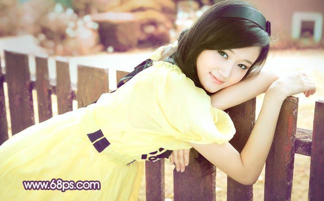 Photoshop甜美粉色效果的美女照片色彩教程
