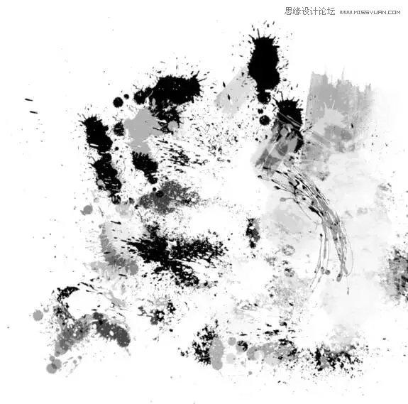 Photoshop制作中国风水墨特效艺术字教程