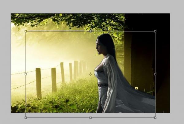 Photoshop通道抠图抠出场景中的美女教程