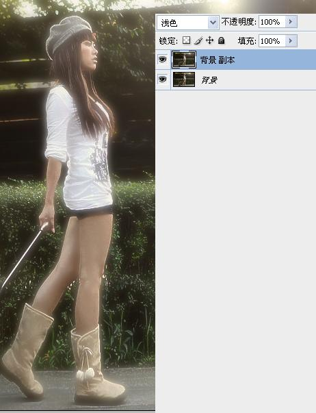 Photoshop给街拍美女照片色彩美化PS处理