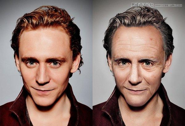 解析Photoshop如何把年轻的人像照片变老