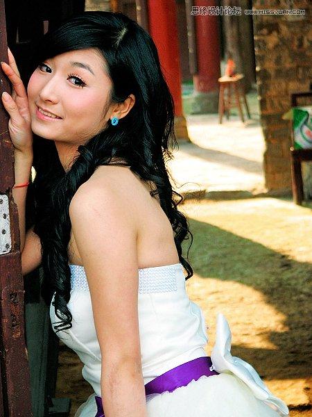 Photoshop调出唯美韩系艺术效果的外景人像