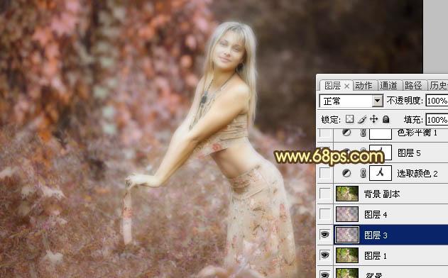 Photoshop调出唯美非主流效果的外景人物照片