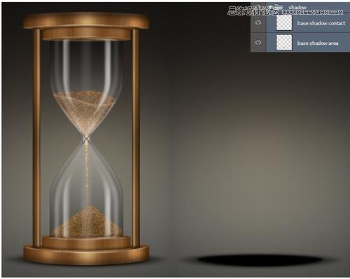 Photoshop鼠绘绘制超逼真的金属质感沙漏教程