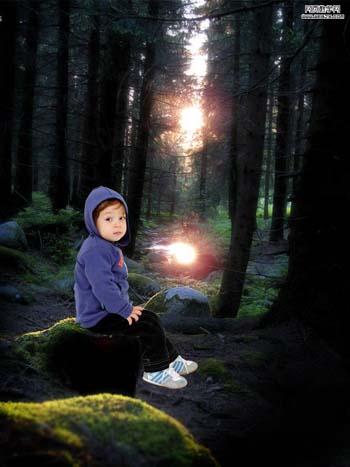 Photoshop合成恐怖效果的森林图片教程