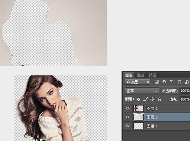Photoshop制作风化喷溅人物图片效果教程