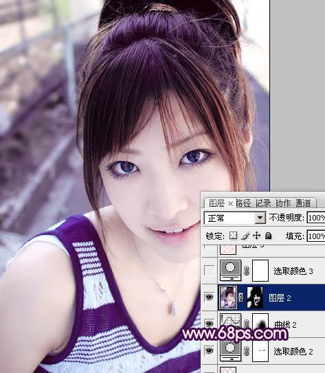 Photoshop给女孩照片调色及脸部磨皮美化教程