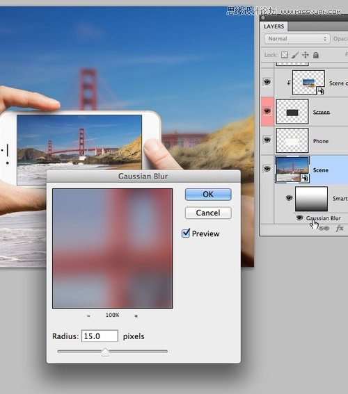 巧用Photoshop智能滤镜制作手机看图特效