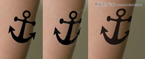 Photoshop给人物添加创意逼真的帅气纹身