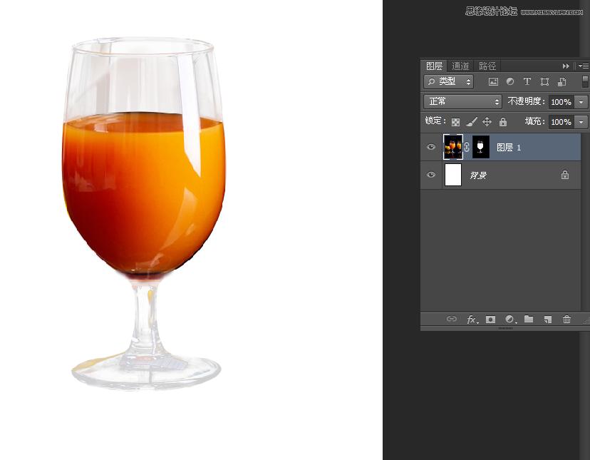 巧用Photoshop图层蒙板抠出透明物体