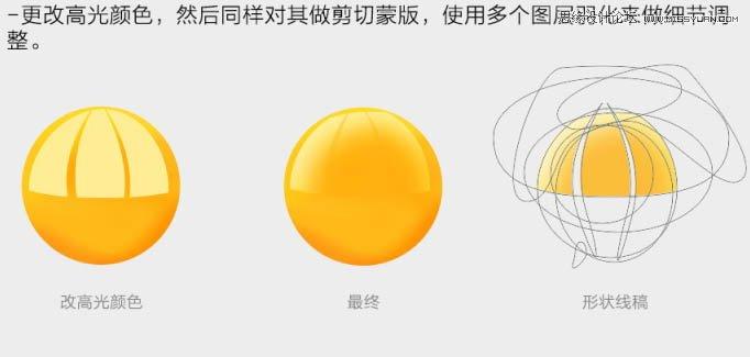 Photoshop鼠绘逼真的流淌效果的蛋黄教程