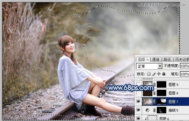 Photoshop调出冷色逆光效果的果子照片教程