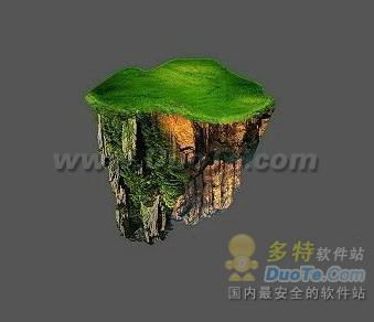 Photoshop合成悬空漂浮在空中的山上之城