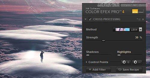 Photoshop合成云端中魔幻风格星球特效图片