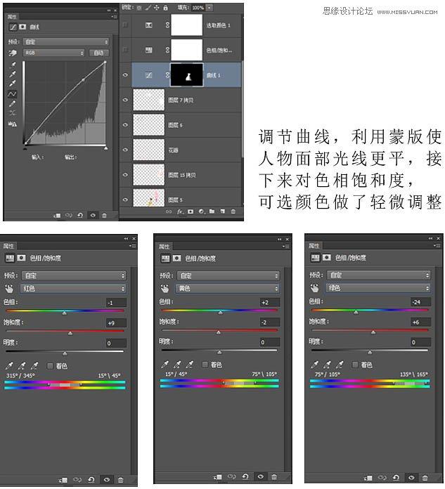 Photoshop调出美女写真中国风仿工笔画效果