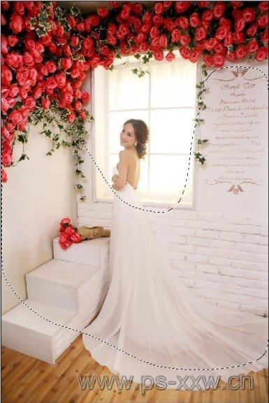 室内清新婚纱照片后期Photoshop调色美化处理