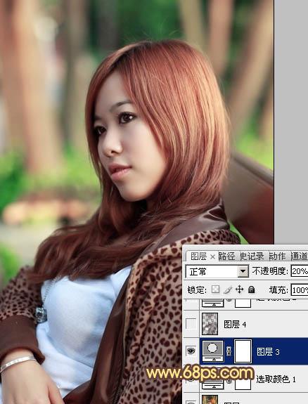 Photoshop给甜美女孩特写照片色彩提亮处理